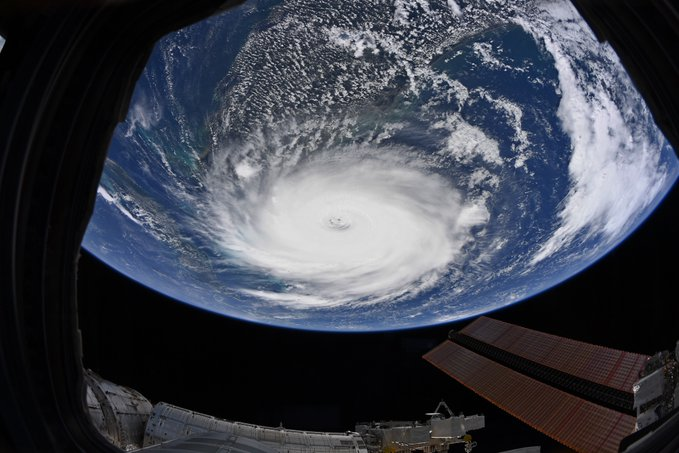 Hurricane Dorian, photographed from space on September 2.