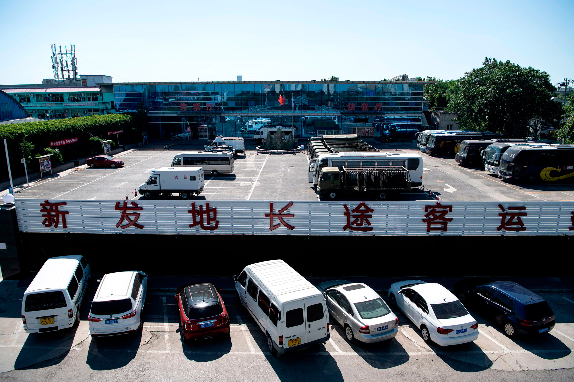 A general view shows a section of the closed Xinfadi Market in Beijing on June 14.