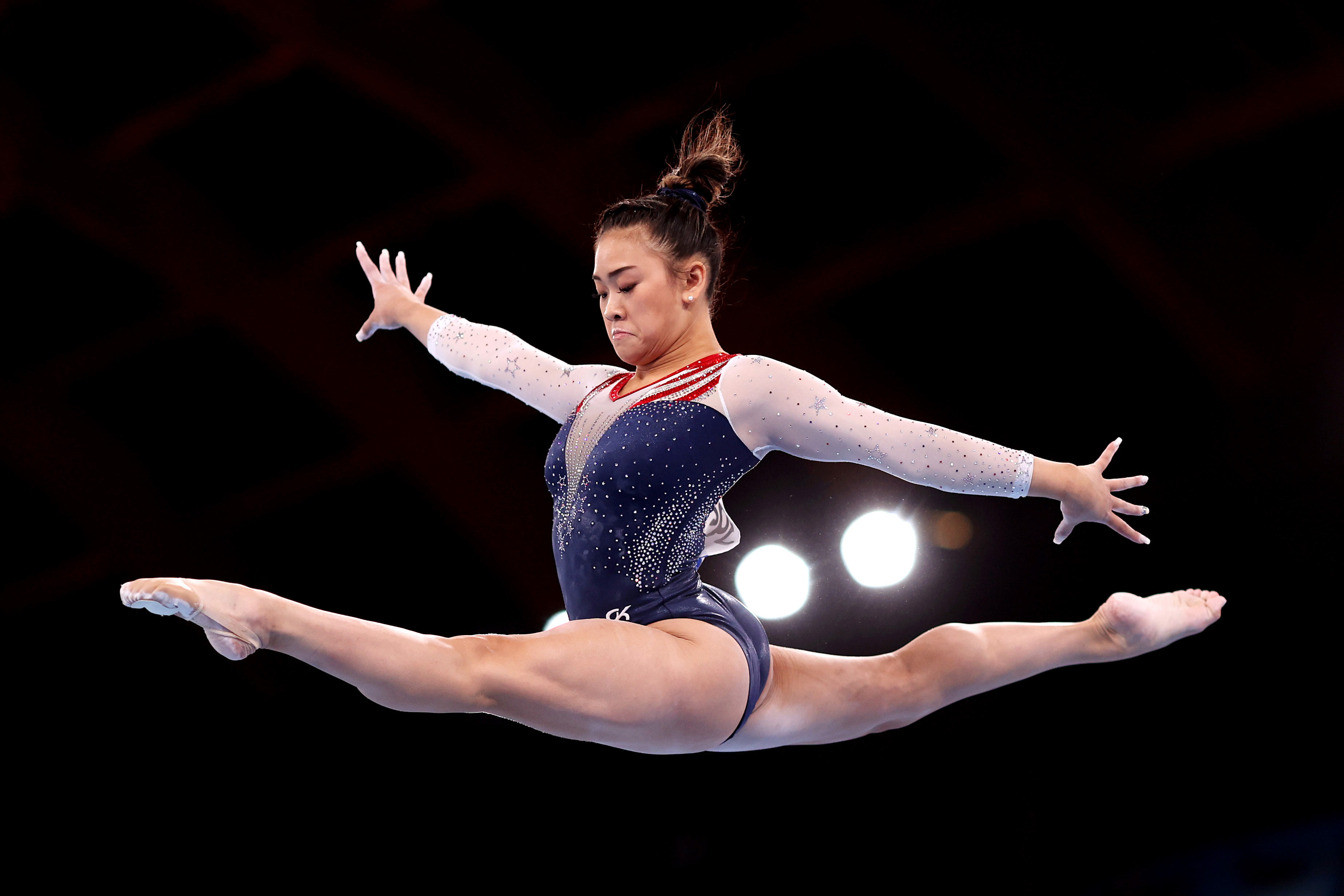 USA's Sunisa Lee competes on balance beam during the all-around final on July 29.