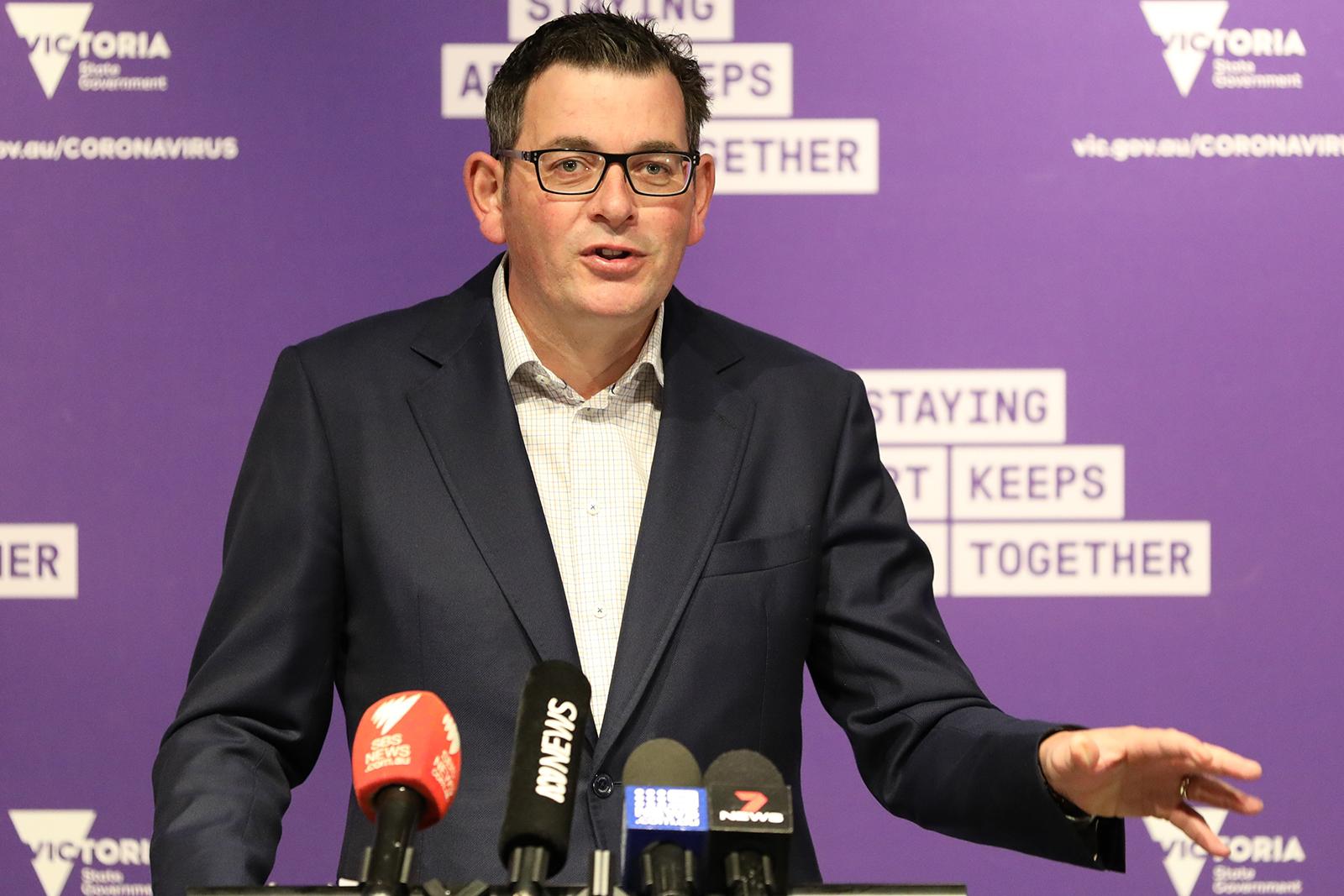 Premier of Victoria, Daniel Andrews, speaks during a press conference on June 28, in Melbourne, Australia.
