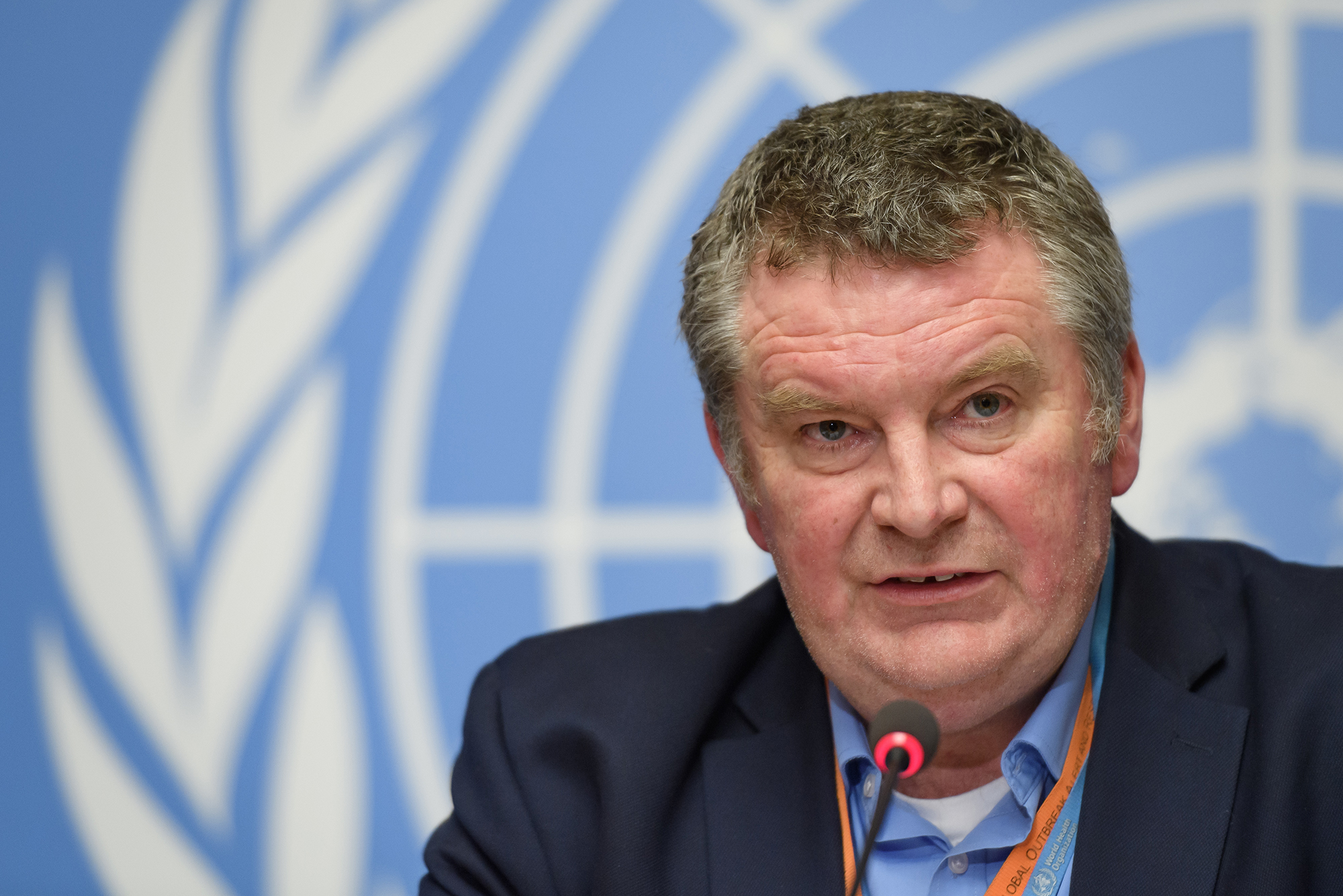 World Health Organization's Health Emergencies Programme executive director Dr. Michael Ryan on January 29 in Geneva, Switzerland.