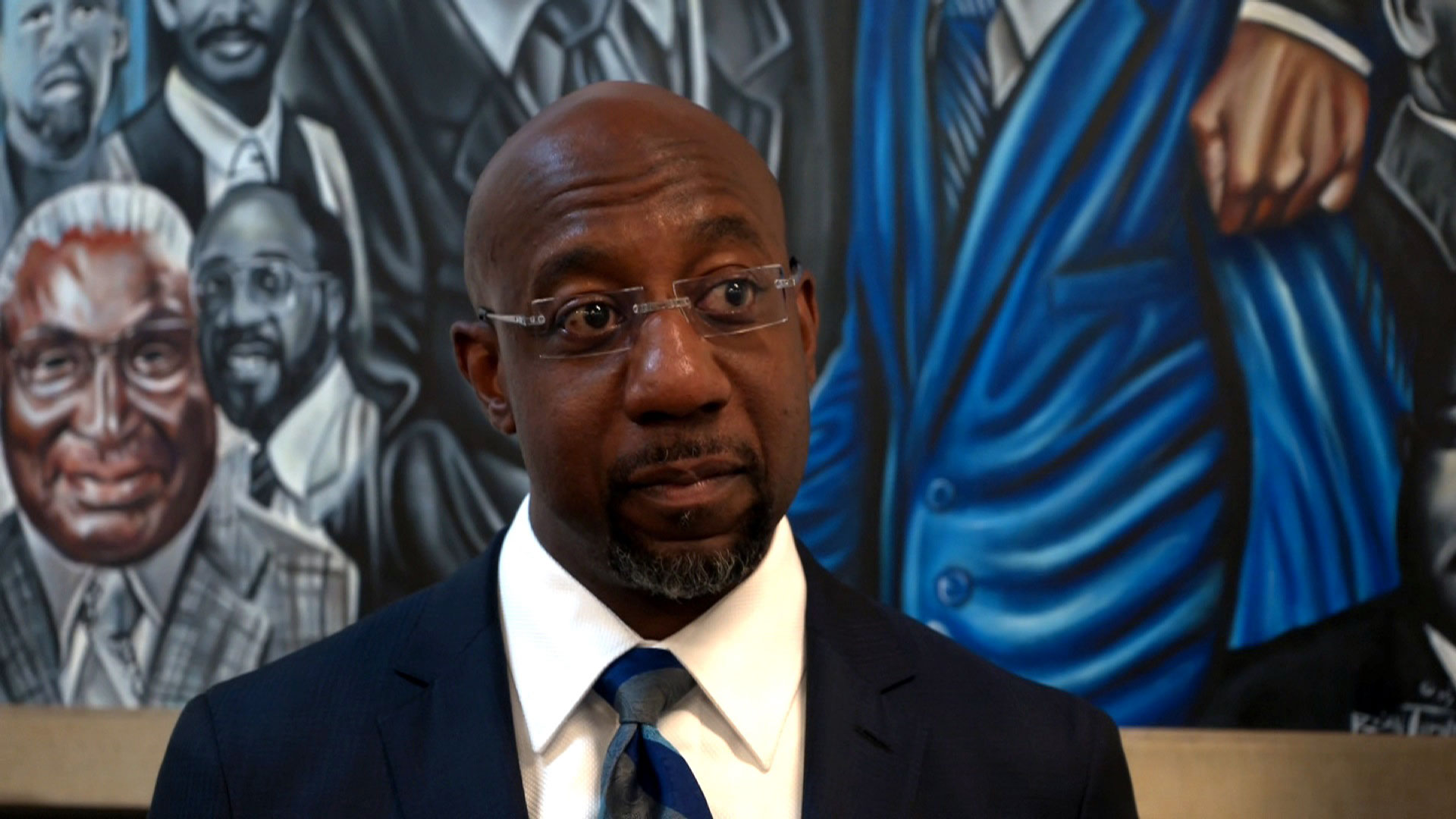 Rev. Raphael Warnock, speaks at Ebenezer Baptist Church on June 22 in Atlanta.