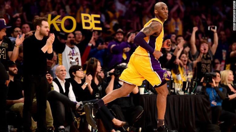 Kobe Bryant in the third quarter against the Utah Jazz at Staples Center in April 2016.