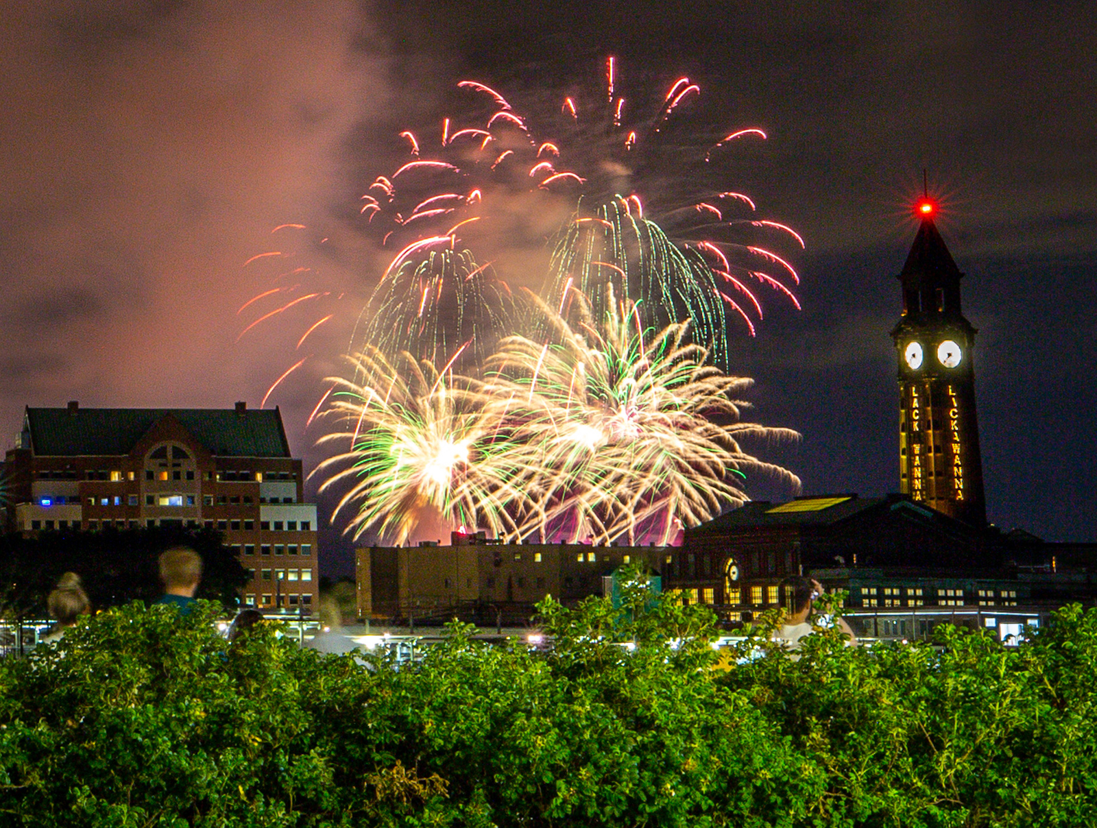 Fireworks light up the sky on June 30, in New York City.