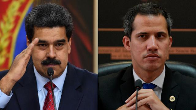Incumbent President Nicolas Maduro and opposition leader Juan Guaido.