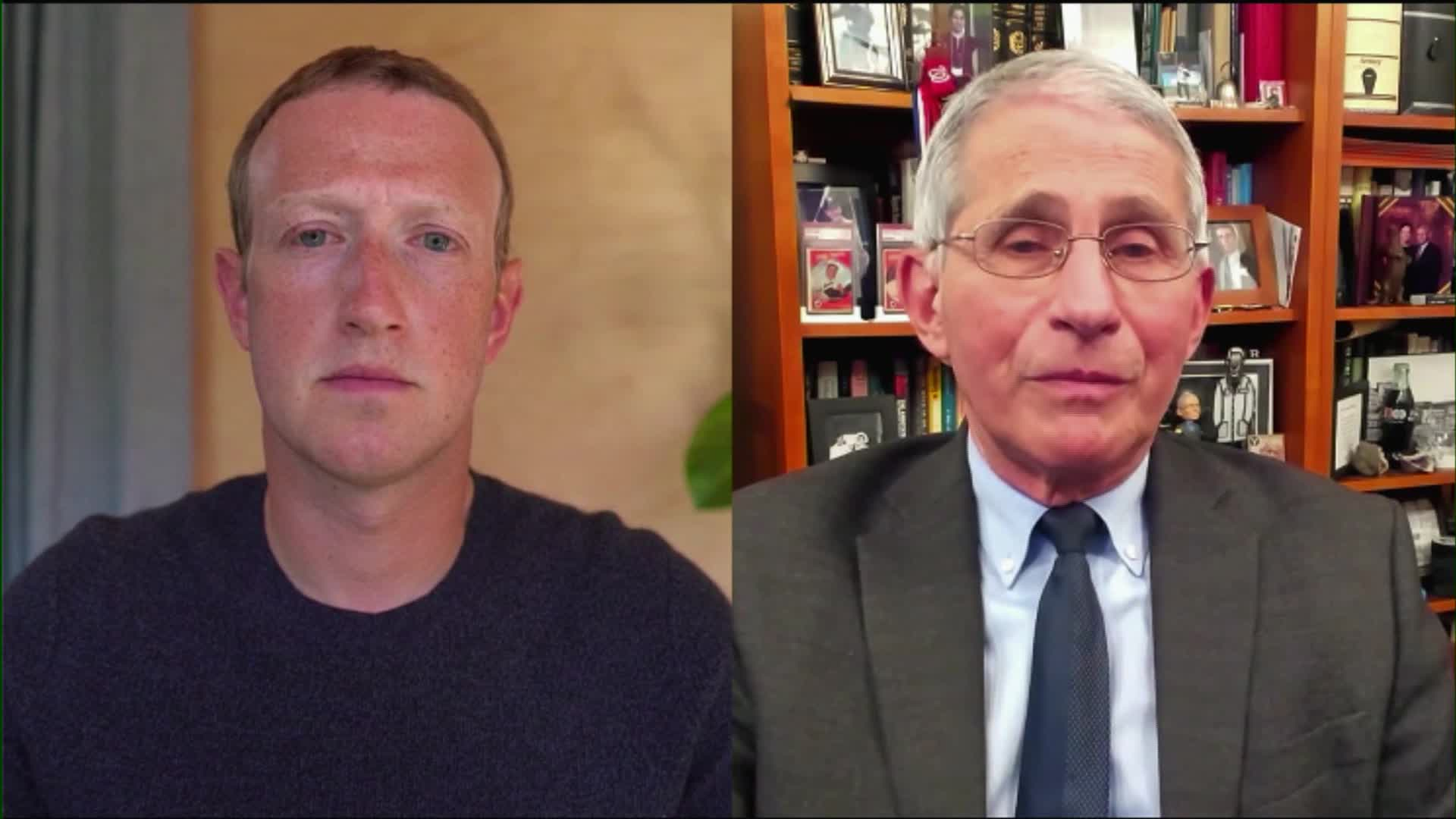 Mark Zuckerberg and Dr. Fauci.