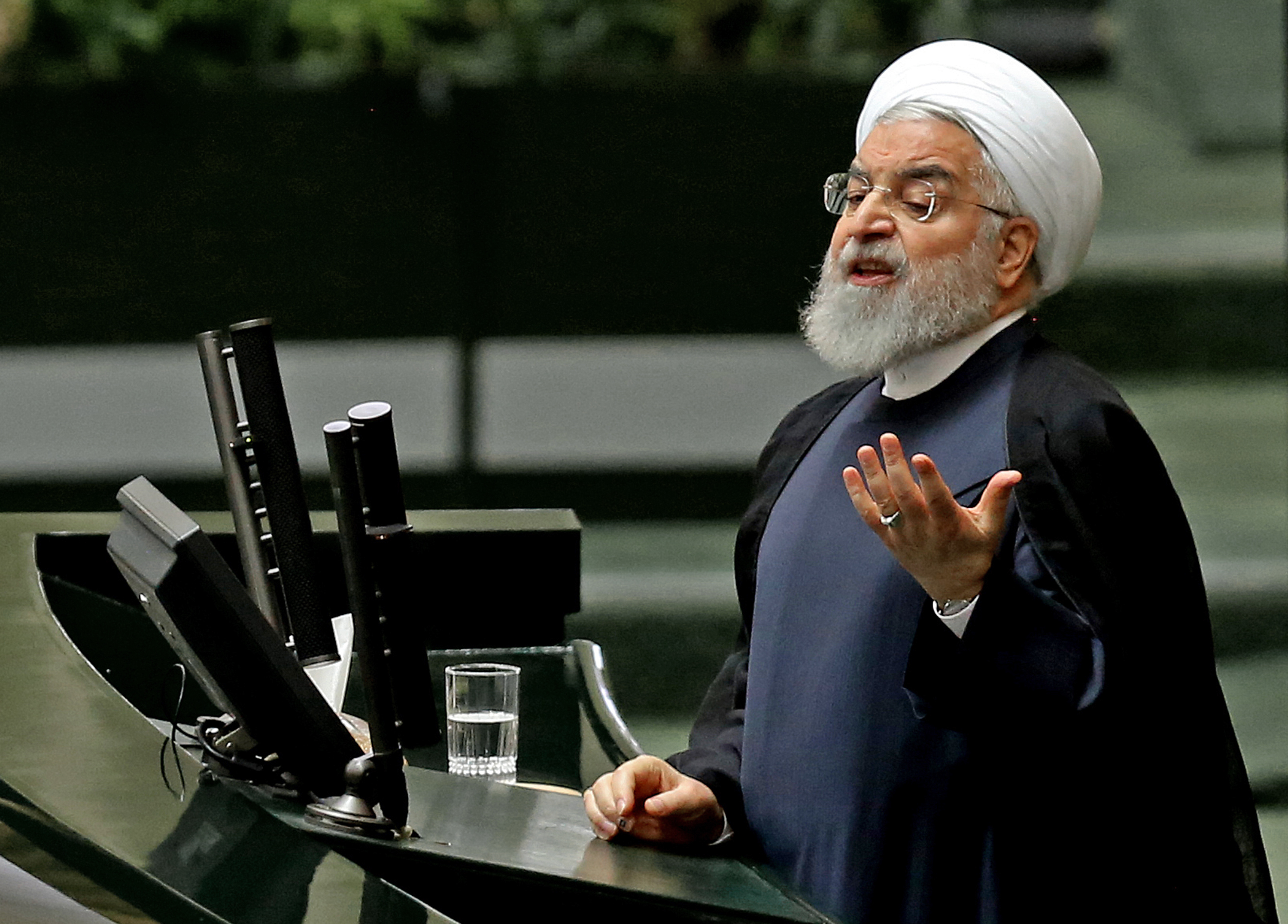 Iranian President Hassan Rouhani will hold a meeting Sunday evening to decide the future of the nuclear deal.