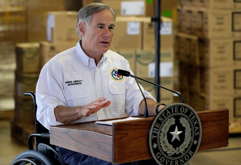 Texas Gov. Greg Abbott speaks on April 6.