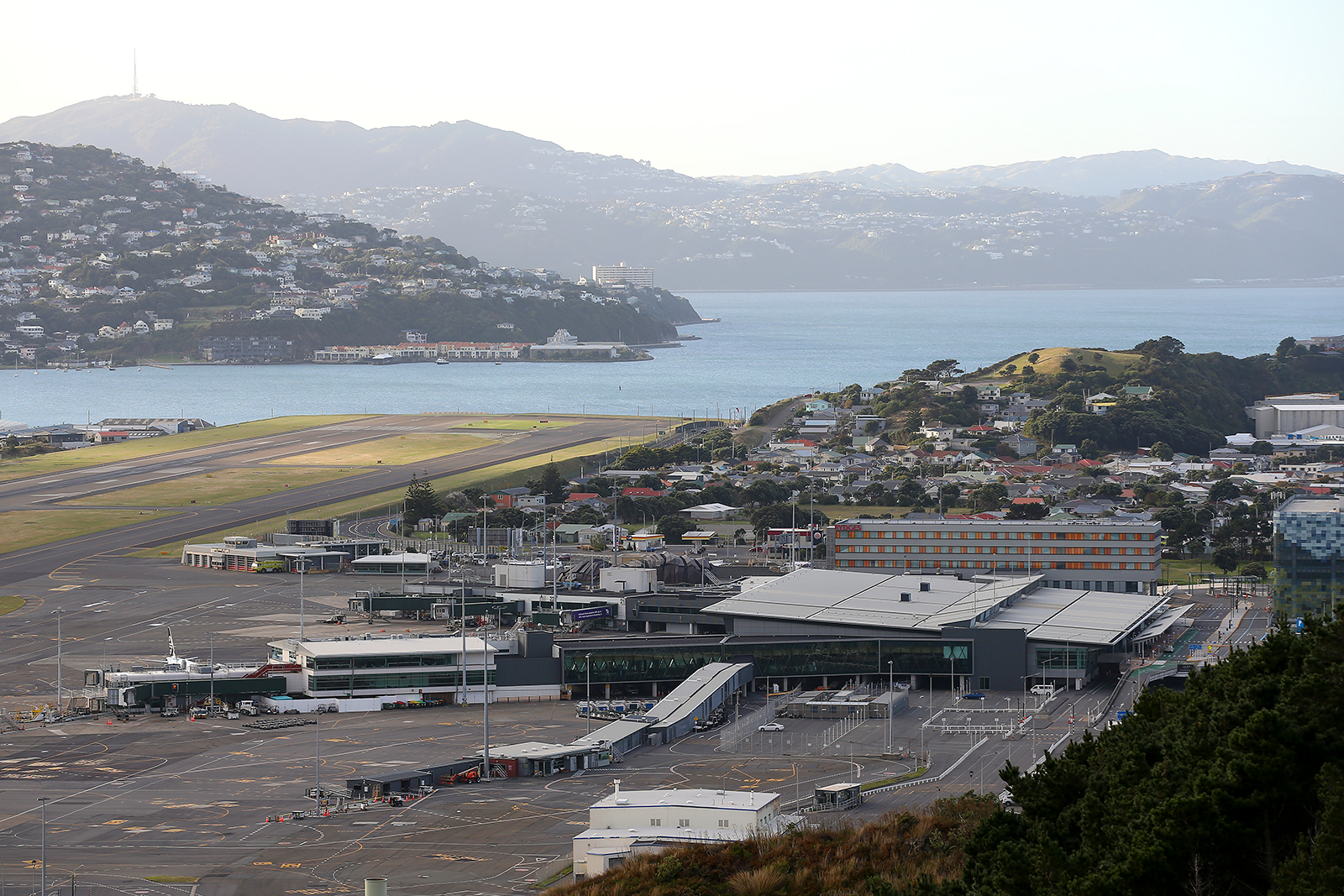 A general view of Wellington Airport is seen in Wellington, New Zealand, on April 9.