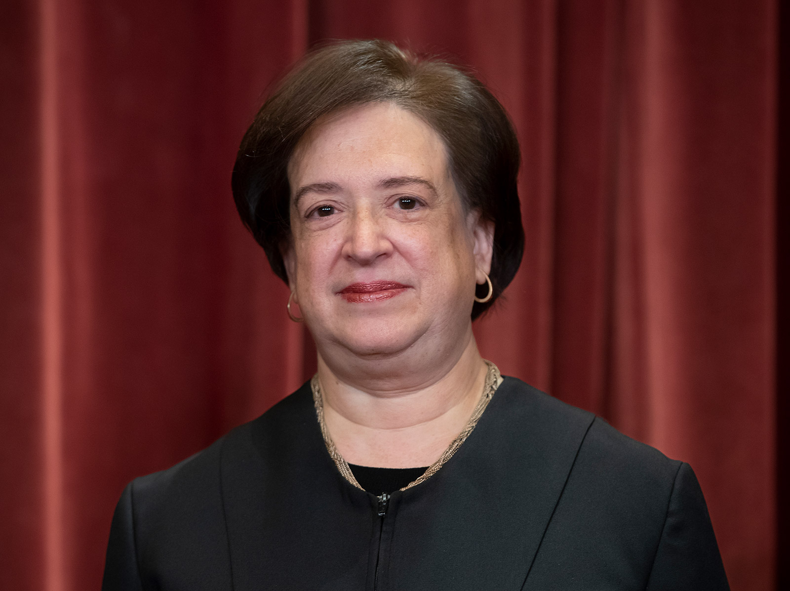 Justice Elena Kagan poses for the official Supreme Court group photo in 2018.