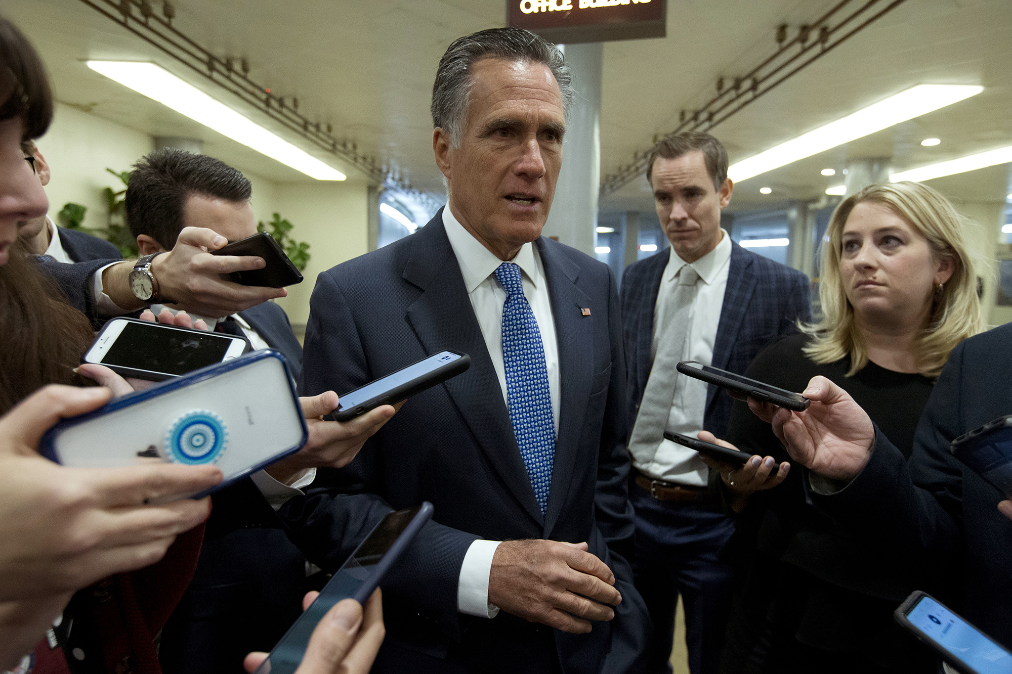 """Romney says Democrats are making a """"mistake"""" by saying that """"everything is an outrage"""""""