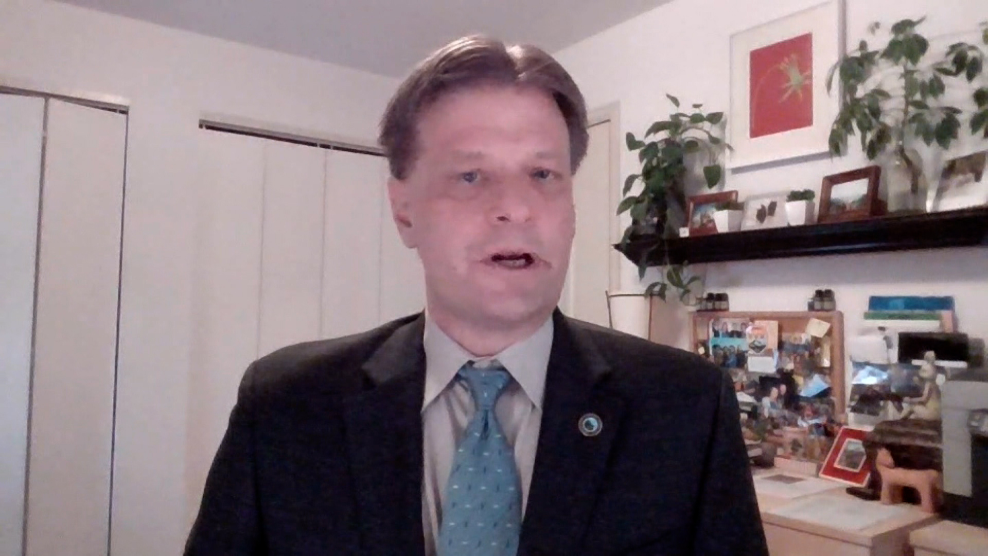 Boulder Mayor Sam Weaver speaks during an interview on March 24.