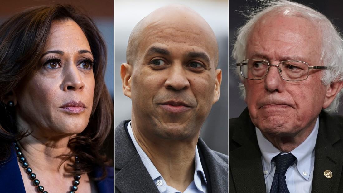 Sens. Kamala Harris, Cory Booker and Bernie Sanders are all running for president