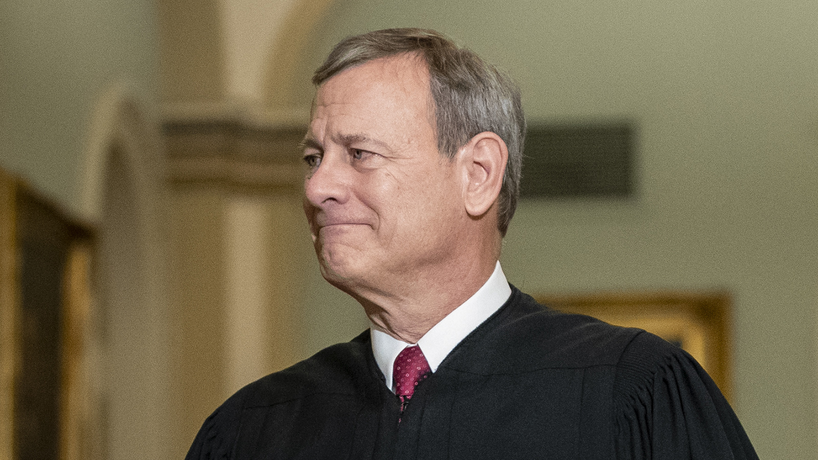 Supreme Court Chief Justice John Roberts arrives to the Senate chamber for impeachment proceedings at the U.S. Capitol on January 16, in Washington.