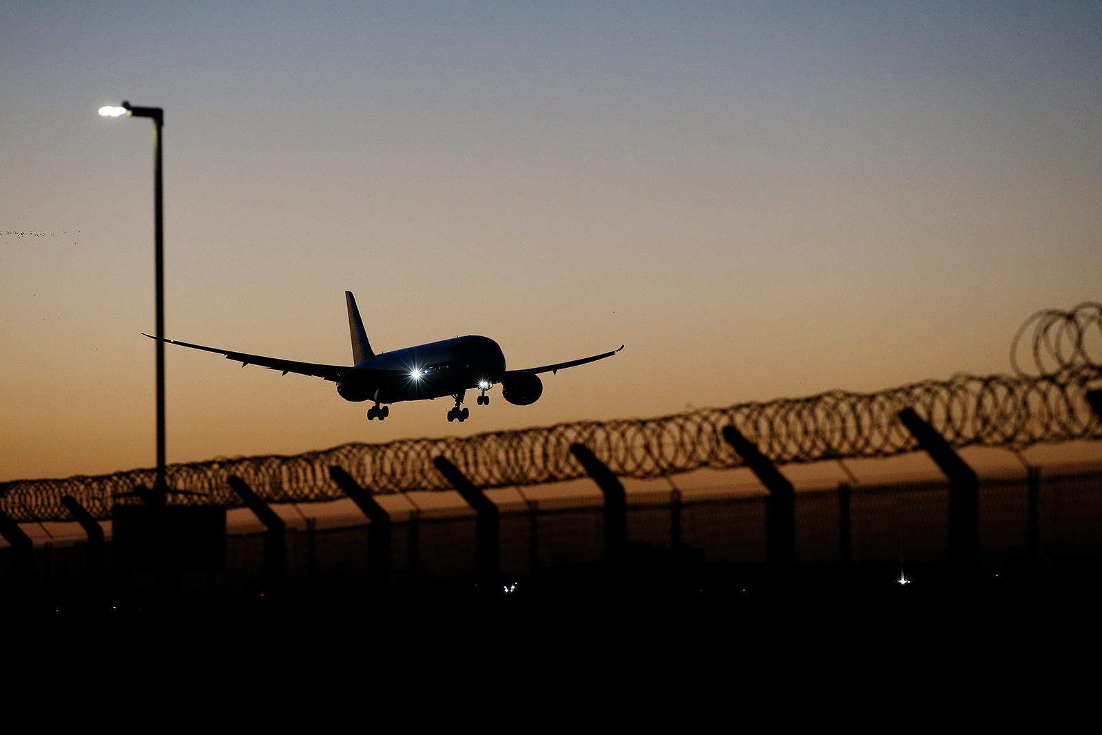 A plane at Heathrow Airport on February 26, in London.