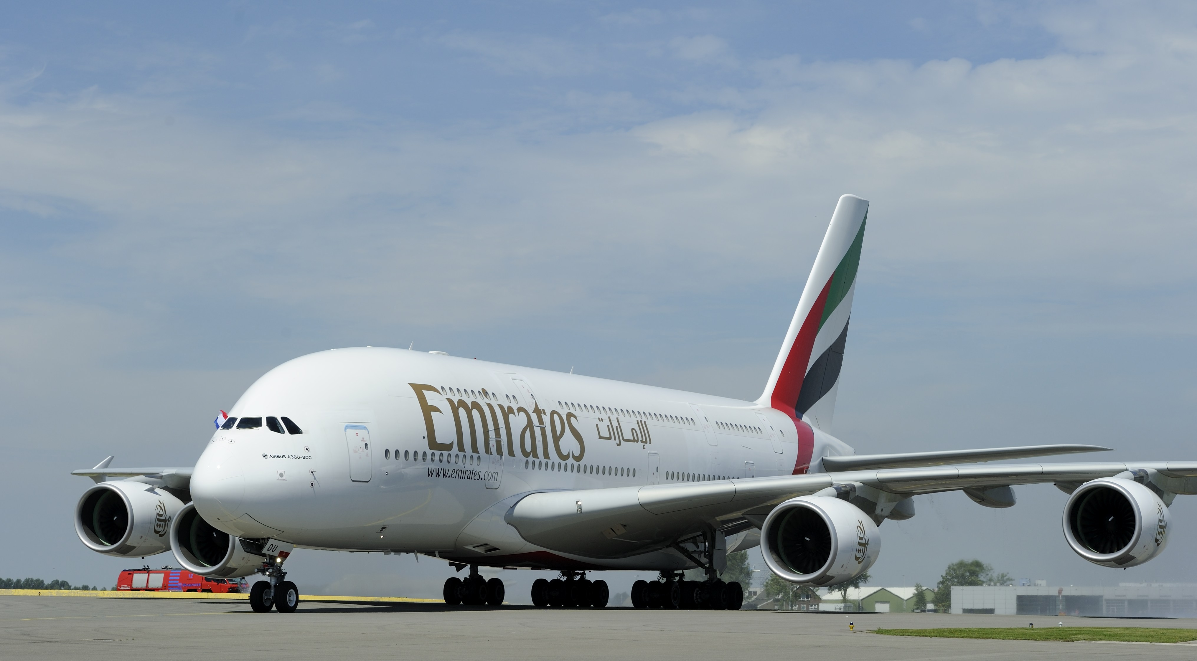 An Emirates Airline's airbus A380