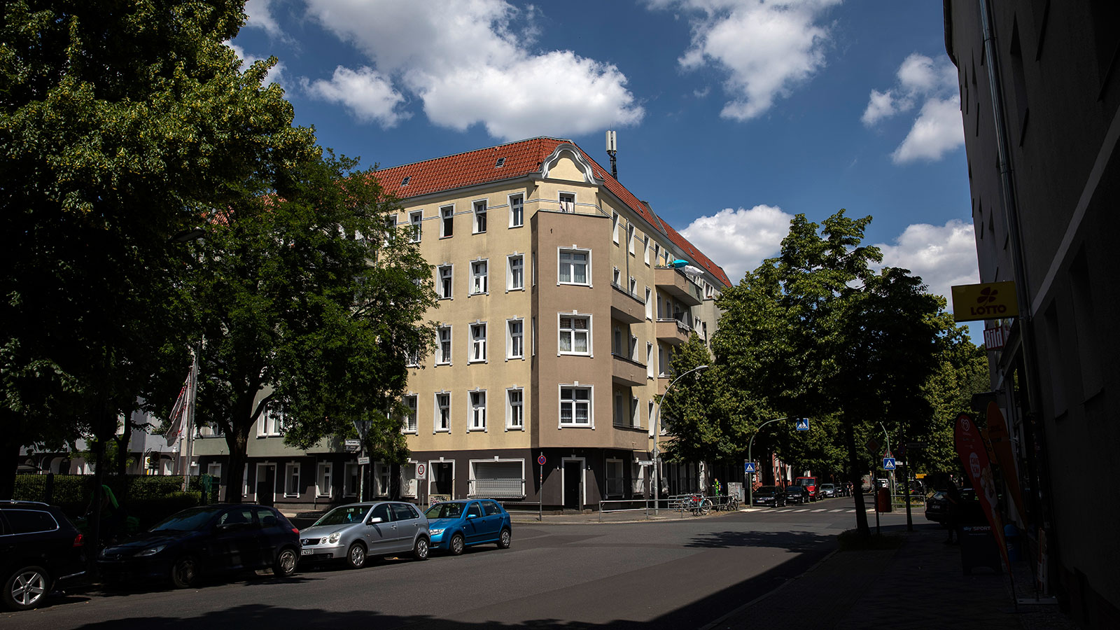 An apartment building that has become a hotspot for a Covid-19 infection outbreak is seen on June 16 in Berlin.