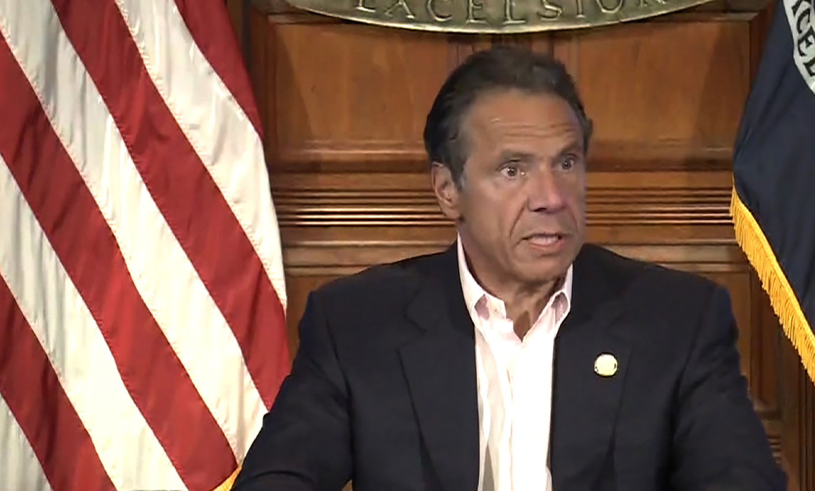 New York Gov. Andrew Cuomo speaks during a news conference on June 14.