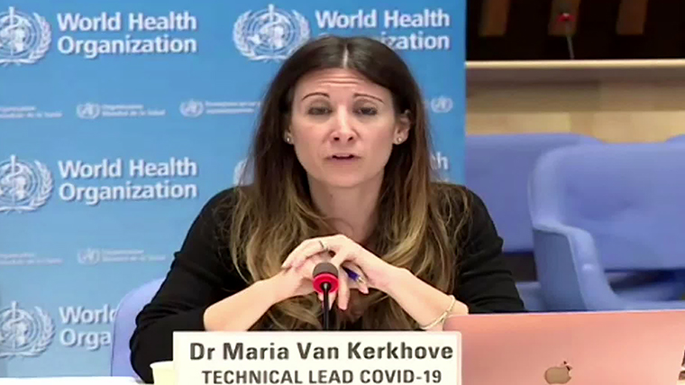 Dr. Maria Van Kerkhove, theWorld Health Organization technical lead on Covid-19