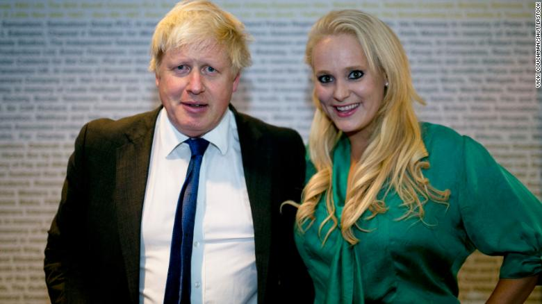 Boris Johnson and Jennifer Arcuri pictured together in London in 2014.