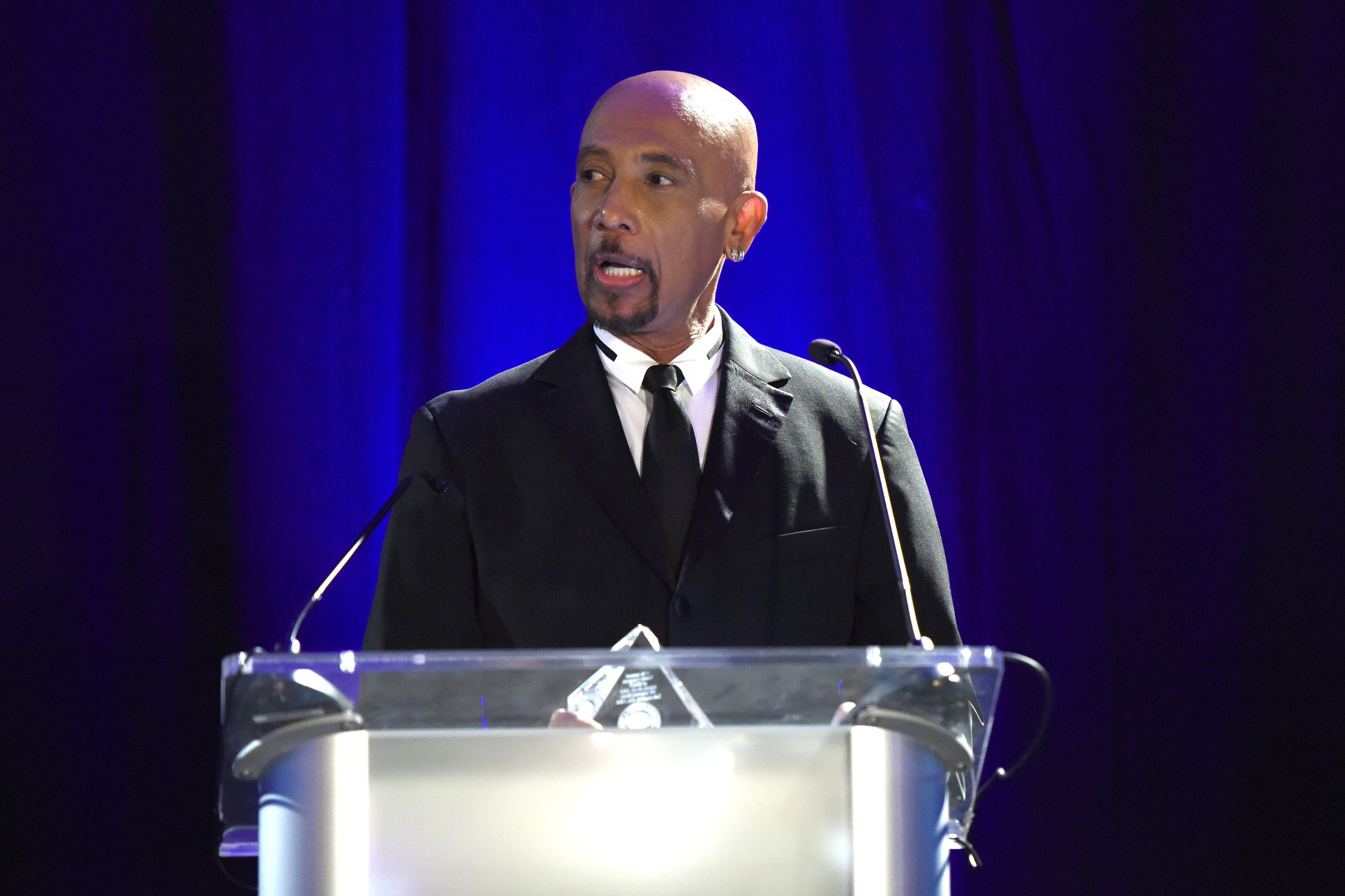 """Montel Williams speaks at the """"Gathering for Cure"""" Awards Gala for the Brain Mapping Foundation on Saturday, July 10, in Los Angeles."""