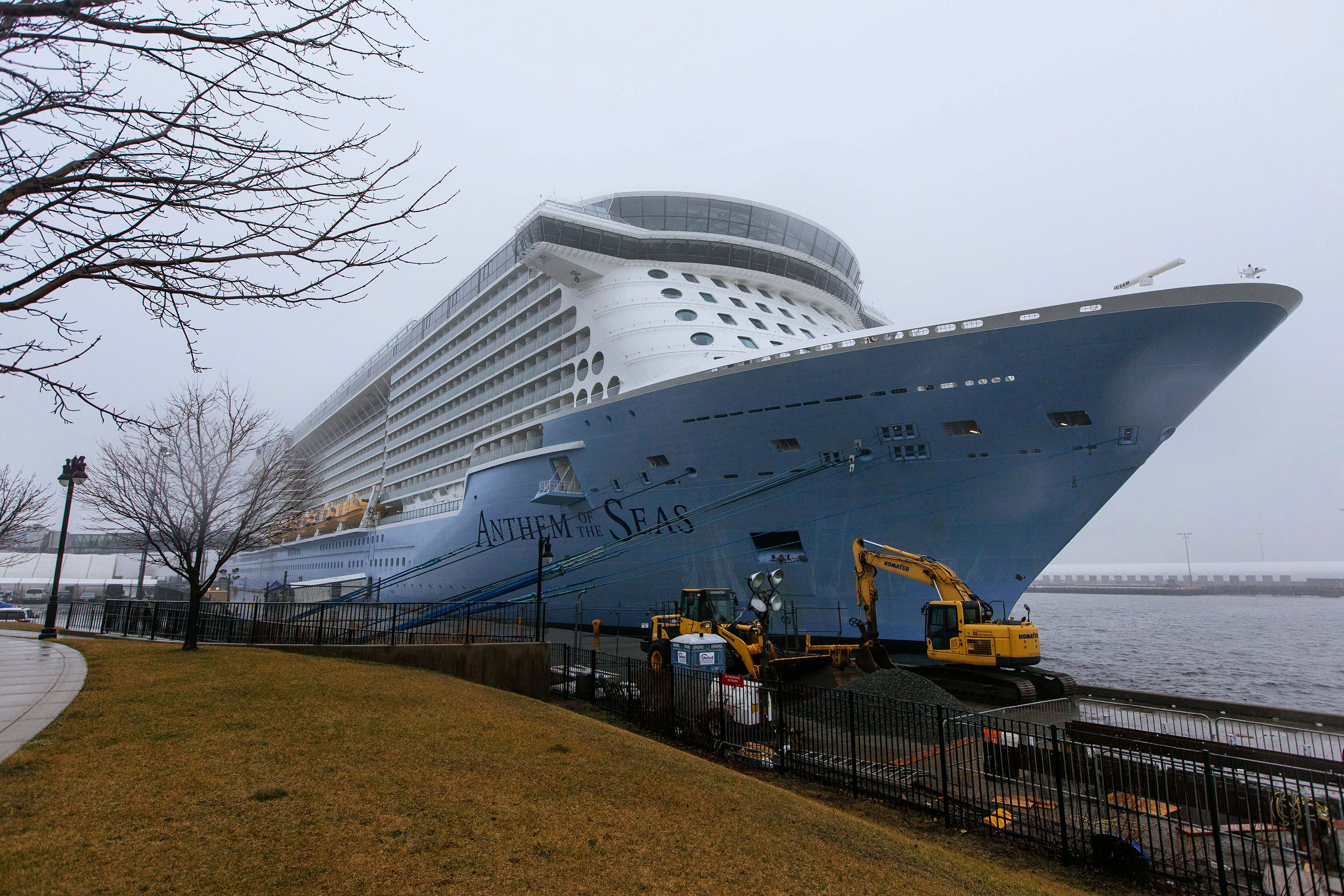 Anthem of the Seas docked at the Cape Liberty Cruise Port in Bayonne, New Jersey, on Friday.