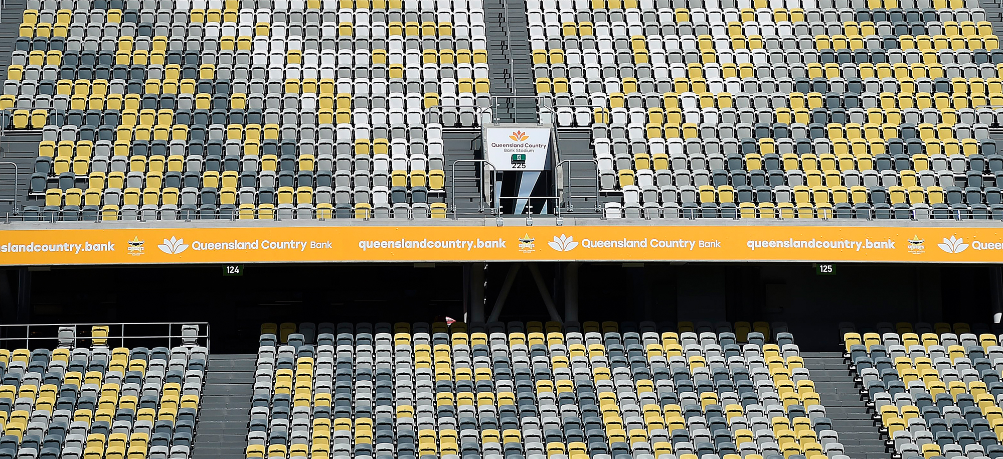 A general view of the stadium seats are seen before the start of the round 1 NRL match between the North Queensland Cowboys and the Brisbane Broncos atQueensland Country BankStadium on March 13 in Townsville, Australia.