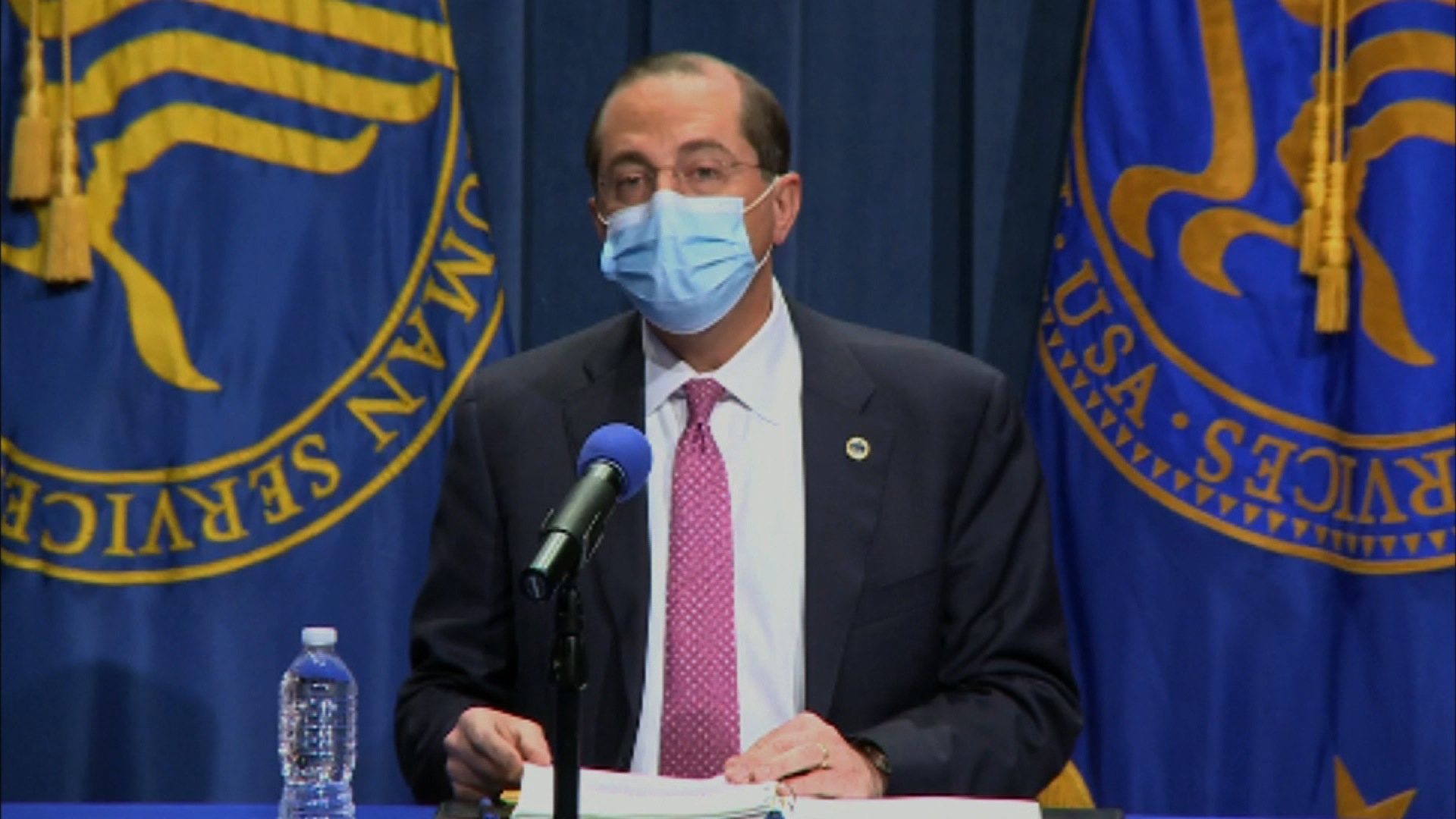 Health and Human Services Secretary Alex Azar speaks during an Operation Warp Speed briefing on November 24.