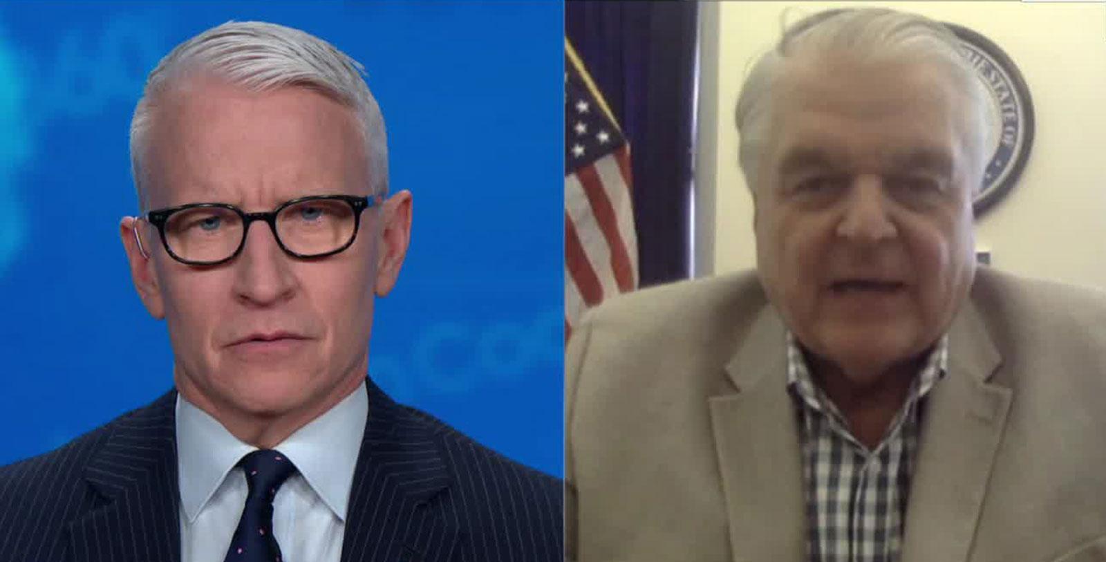 CNN's Anderson Cooper speaks to Nevada Gov. Steve Sisolak.