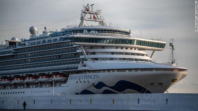 The Diamond Princess has been docked off Yokohama, Japan, since February 4.