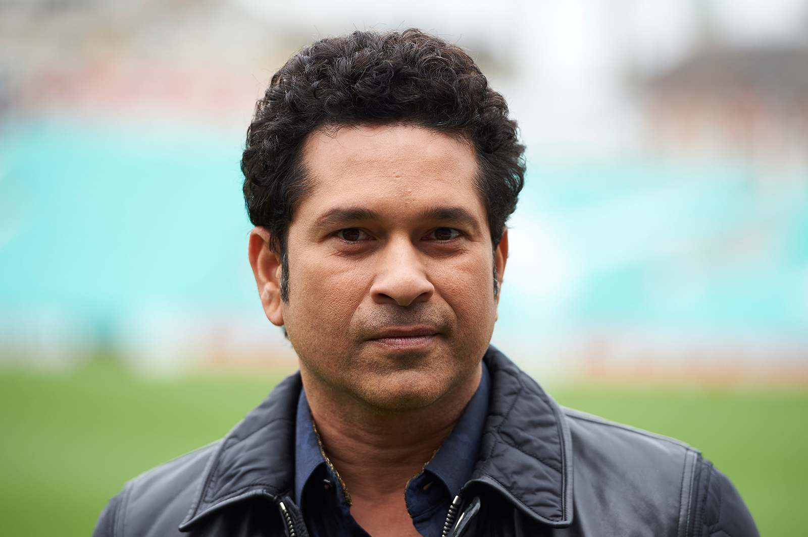 Indian cricket legend Sachin Teldulkar poses for a photograph at the Oval cricket ground in south London , on May 6, 2017.