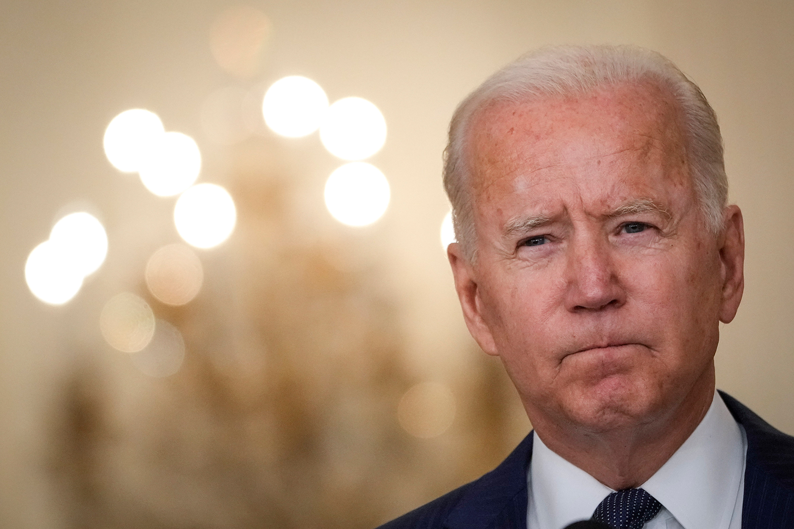 U.S. President Joe Biden speaks about the situation in Afghanistan in the East Room of the White House on August 26 in Washington, DC.