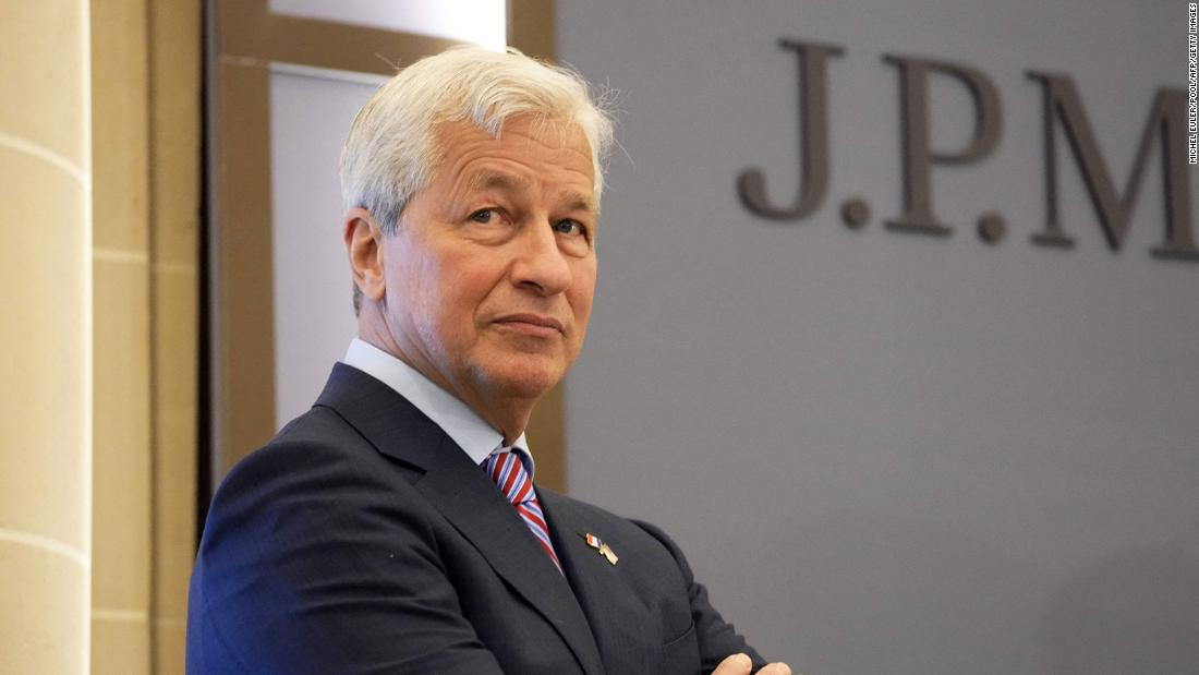 JP Morgan CEO Jamie Dimon in June 2021 in Paris.
