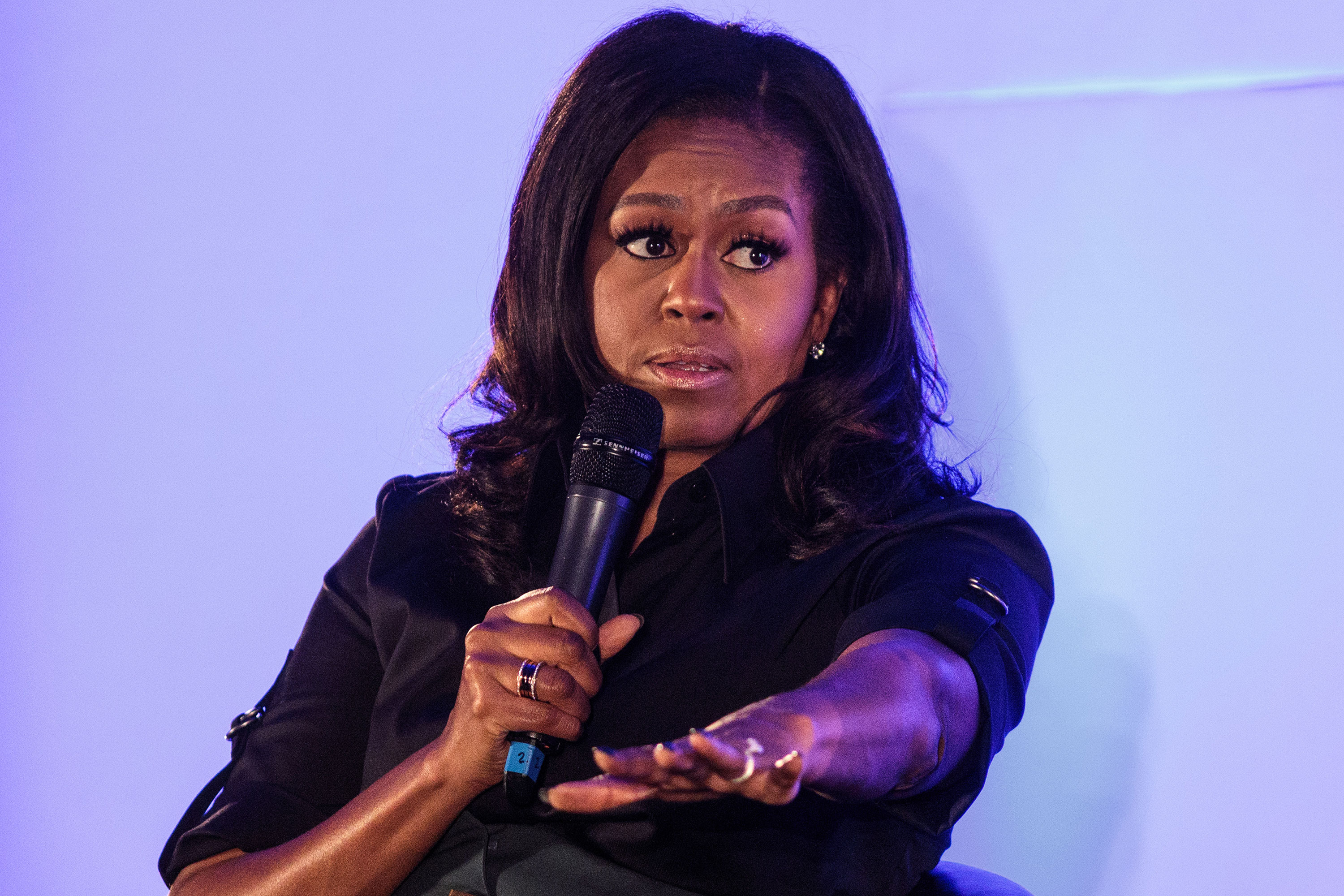 Former First Lady Michelle Obama speaks in 2018.