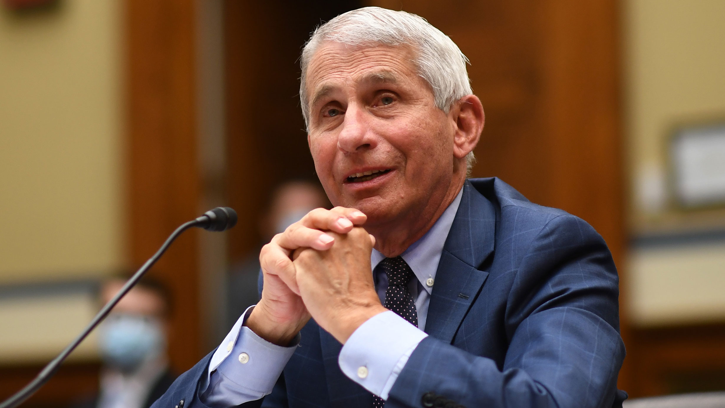 Dr. Anthony Fauci testifies during a House Subcommittee on the Coronavirus Crisis hearing on July 31 in Washington, DC.