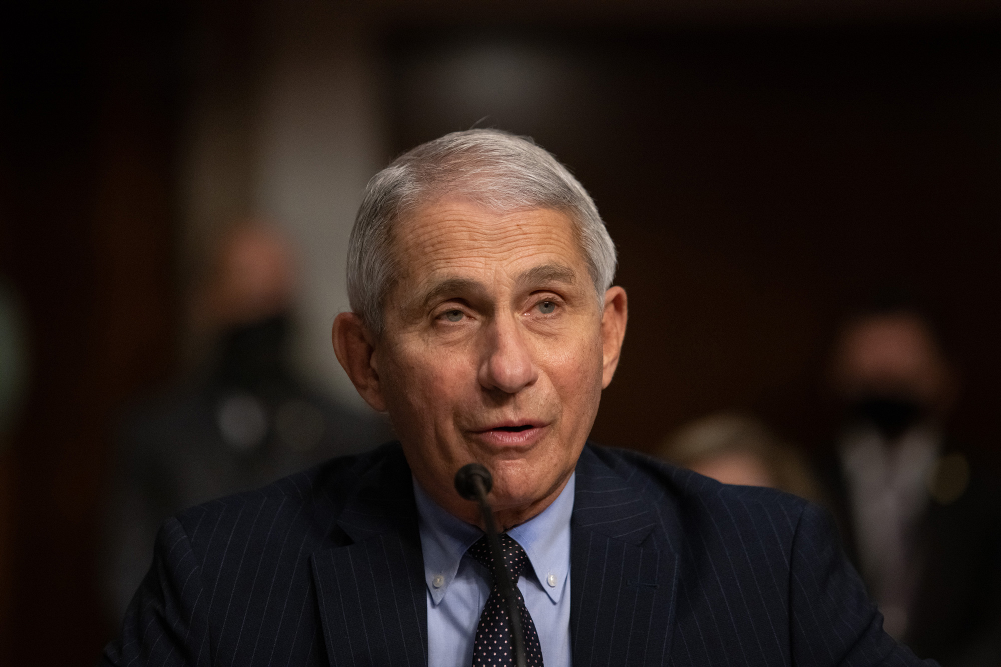 Dr. Anthony Fauci testifies during a hearing in Washington, DC, on September 23.