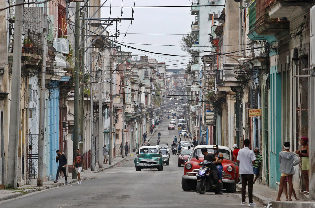 A view of a street in Havana, Cuba, on January 11.