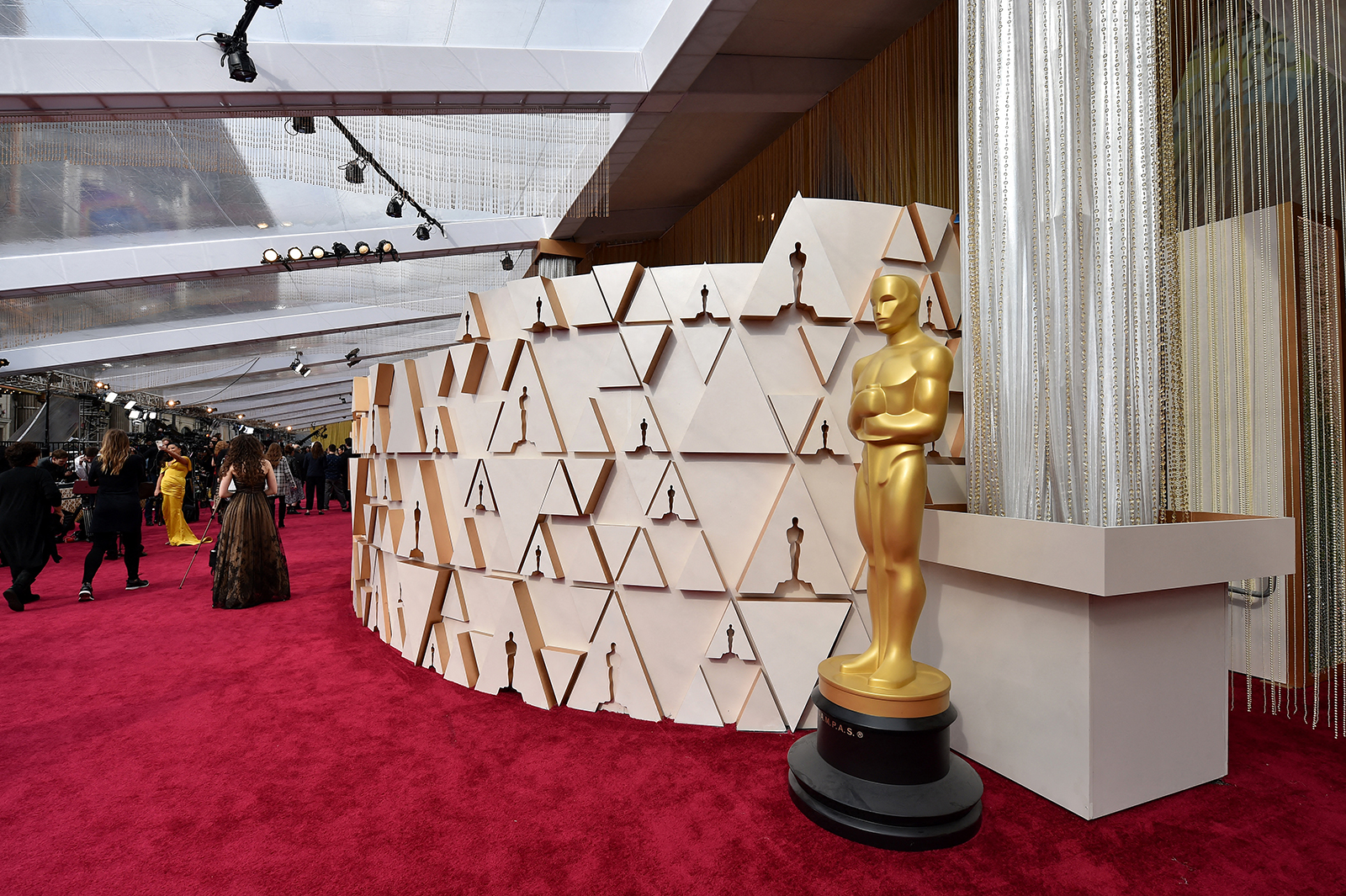 Atmosphere during the 92nd Annual Academy Awards in Los Angeles, on February 9.