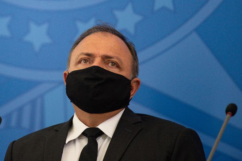 Brazil's interim Health Minister Eduardo Pazuello on July 15 in Brasilia.
