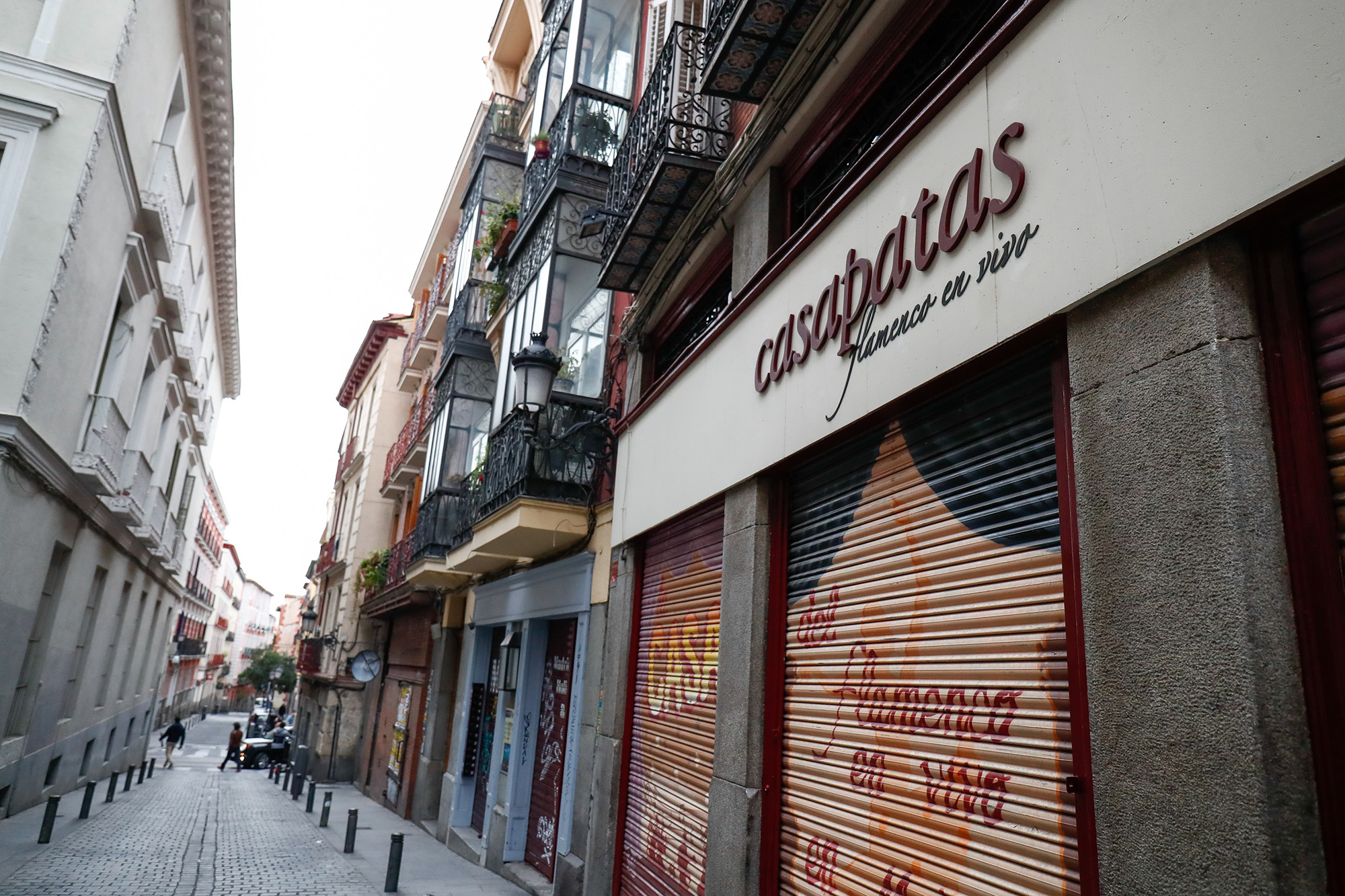 Restaurants and shops are closed due to the Covid-19 pandemic on October 28, 2020, in Madrid, Spain.