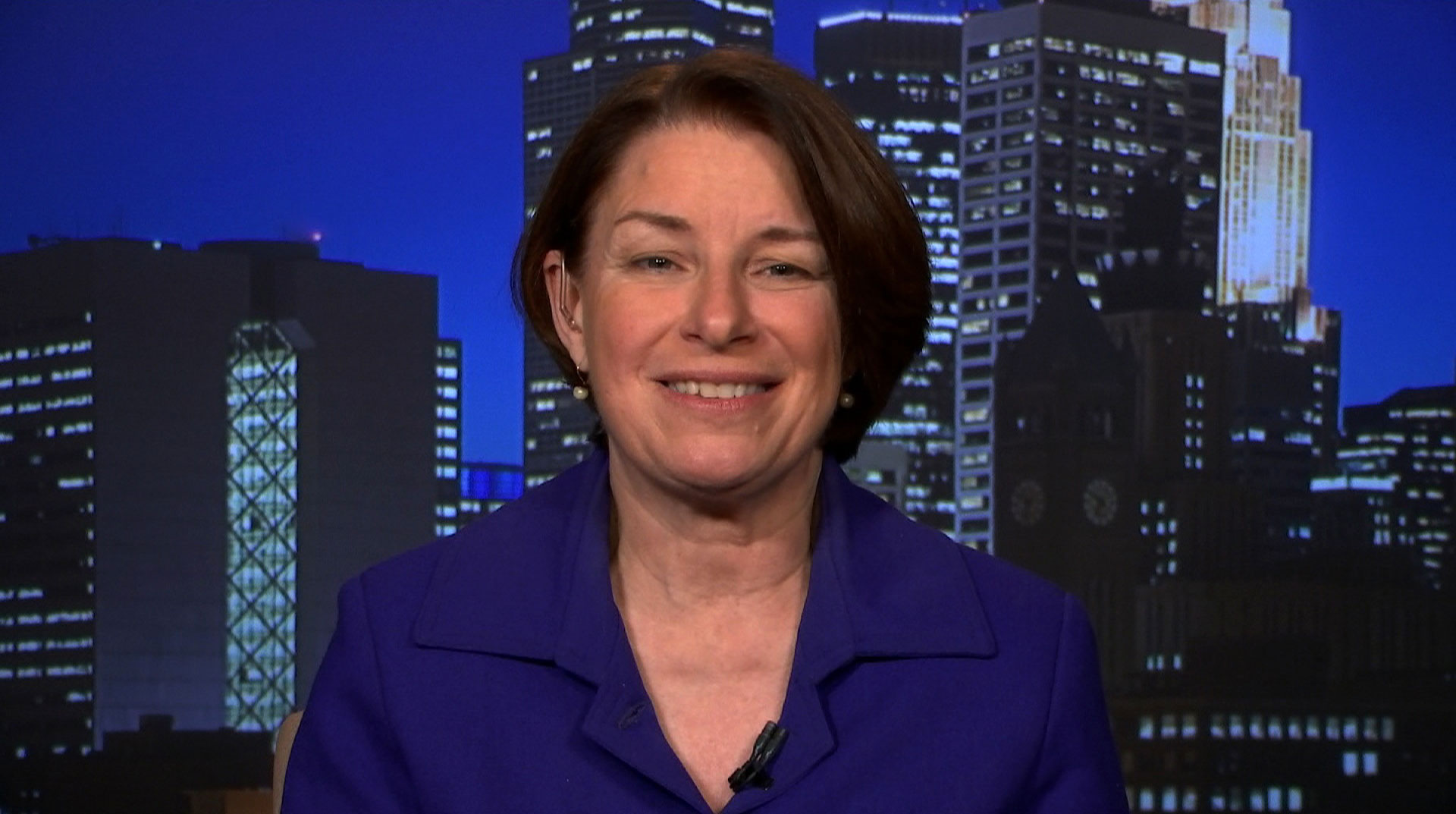 Minnesota Sen. Amy Klobuchar speaks with CNN on November 7.