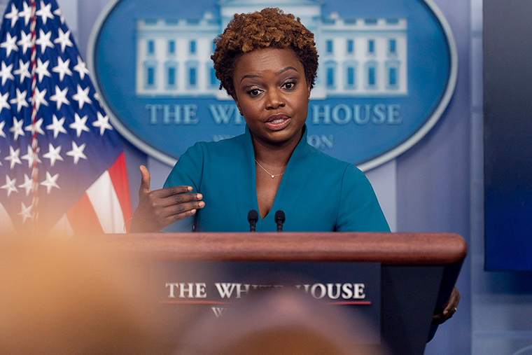 White House principal deputy press secretary Karine Jean-Pierre