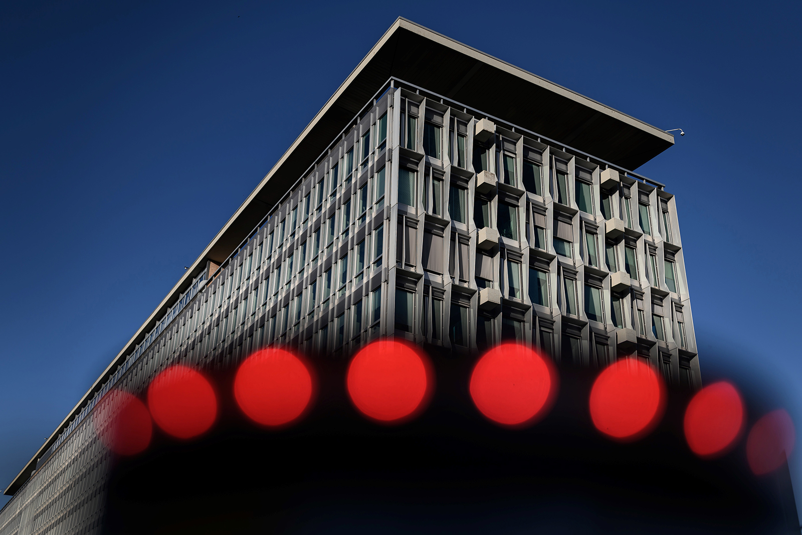 The headquarters of the World Health Organization (WHO) is seen in Geneva on Friday, May 29.