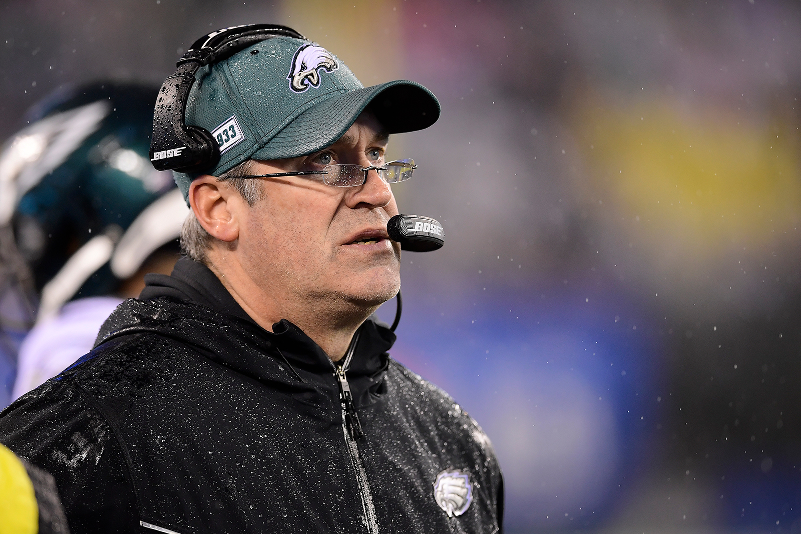 Head coach Doug Pederson of the Philadelphia Eagles looks on against the New York Giants at MetLife Stadium in East Rutherford, New Jersey on December 29, 2019.