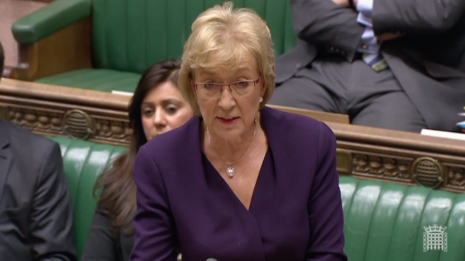 Andrea Leadsom delivered the government's position of Wednesday's business motion.