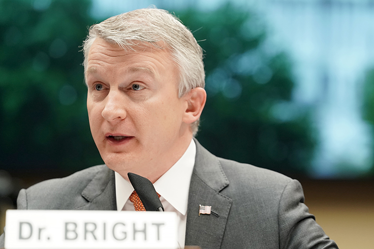 Dr. Rick Bright, former director of the Biomedical Advanced Research and Development Authority, testifies during a House Energy and Commerce Subcommittee on Thursday, May 14.