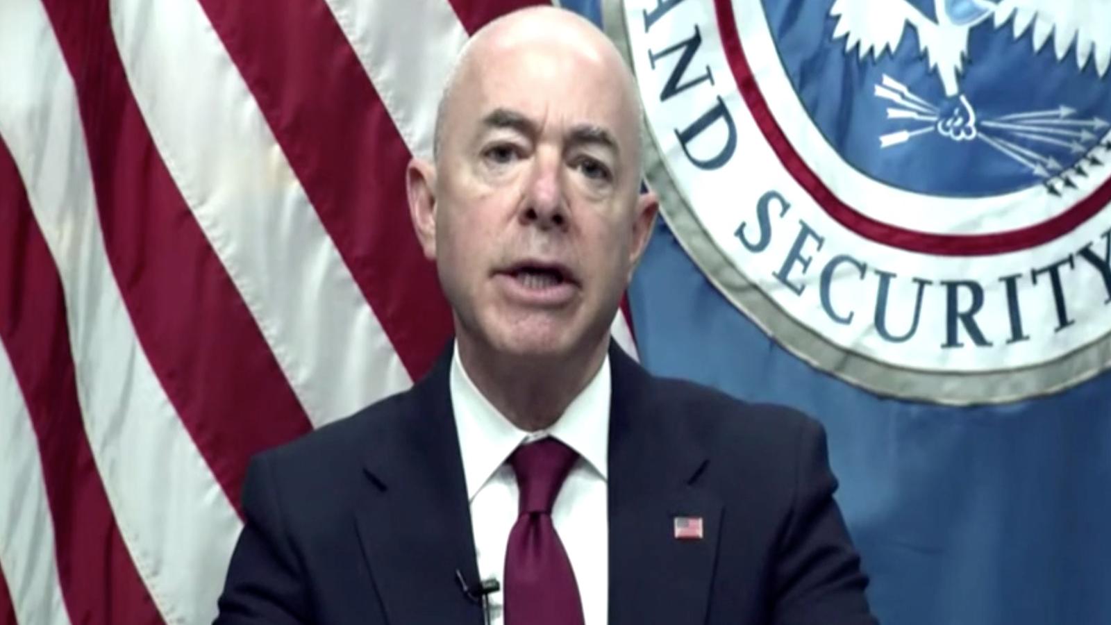 Homeland Security Secretary Alejandro Mayorkas.