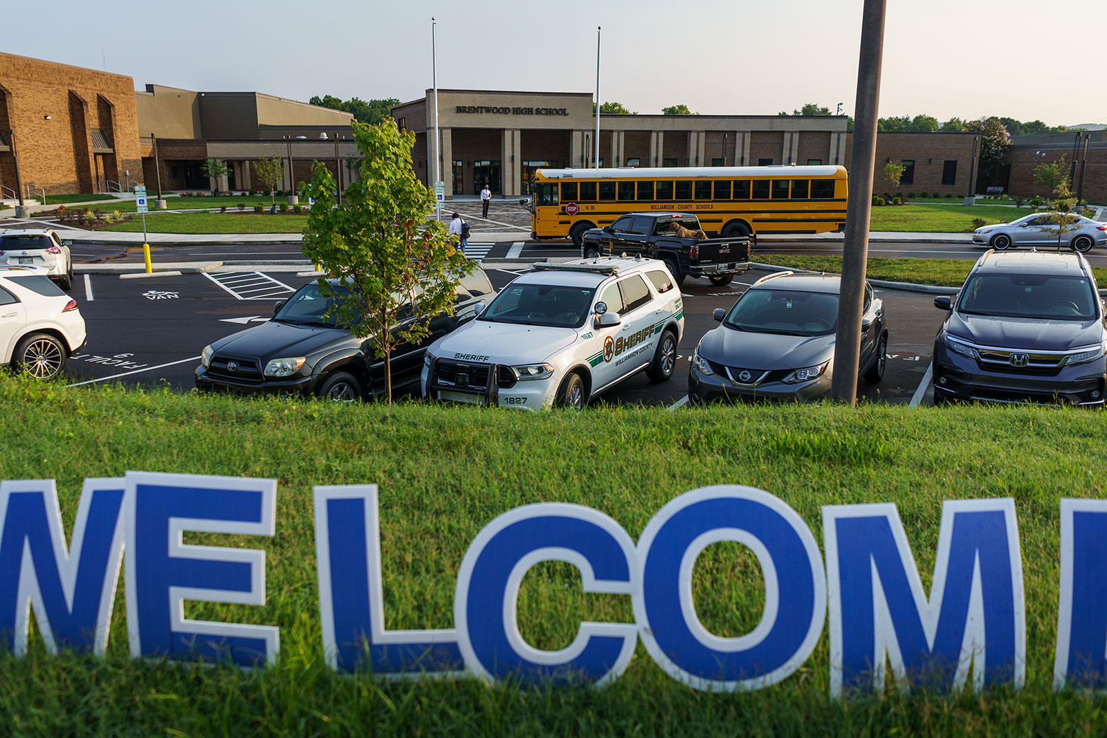 Students make their way into Brentwood High School outside of Nashville, Tennessee. Dr. Anthony Fauci said on Tuesday that he thinks vaccines for teachers should be mandated.