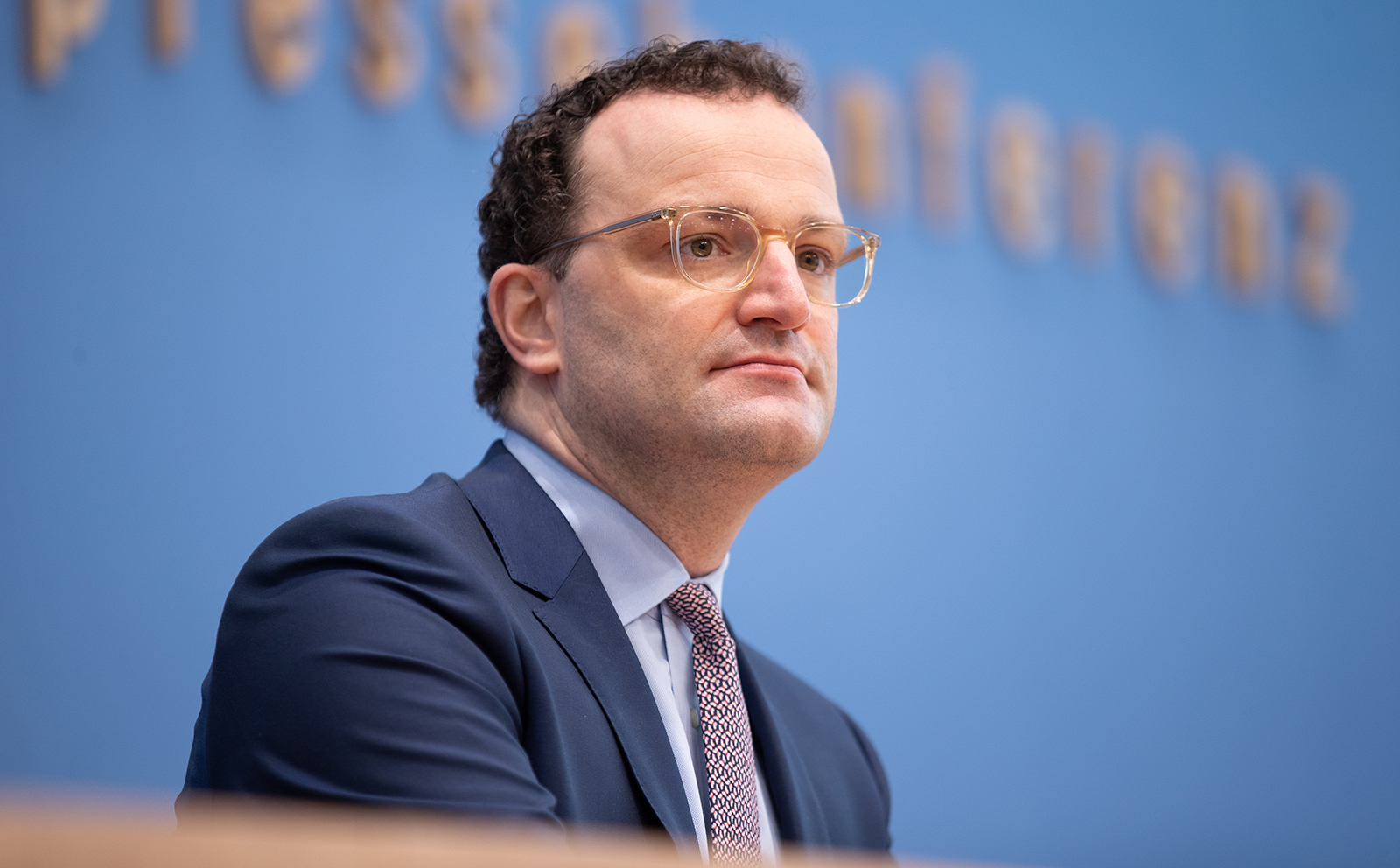 German Health Minister, Jens Spahn speaks to the media in Berlin, on February 26.