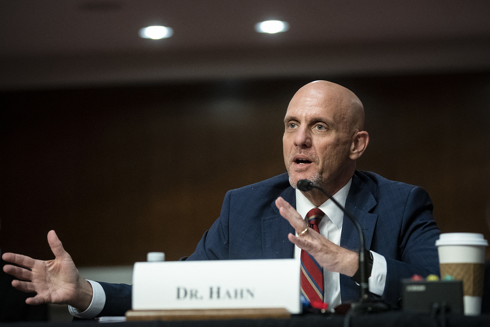 Dr. Stephen Hahn, commissioner of food and drugs at the U.S. Food and Drug Administration (FDA), speaks during a Senate Health, Education, Labor and Pensions Committee hearing in Washington, DC, on June 30.